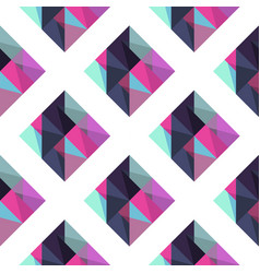 geometric pattern with rombus vector image
