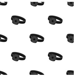 silver ring icon in black style isolated on white vector image
