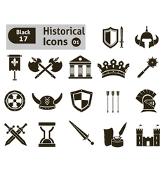 Histoical icons vector