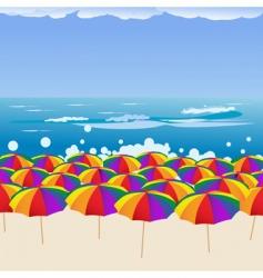 beachscape vector image