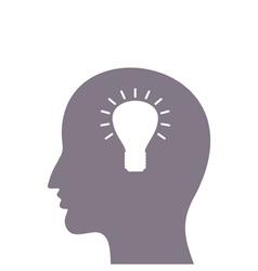Head a bulb vector image