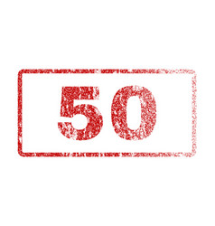 50 rubber stamp vector image vector image