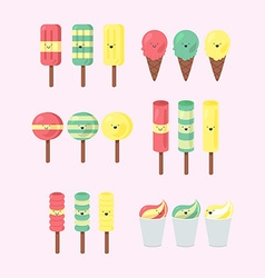 Set of ice-creams vector