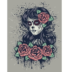 Day of dead girl 2 vector