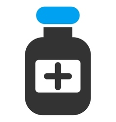 Drugs bottle icon vector
