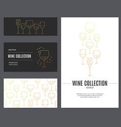 Wine branding vector