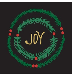 Greeting card - joy vector