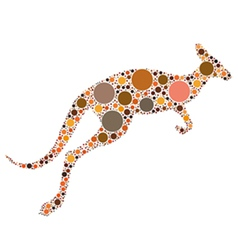 Dotted kangaroo vector