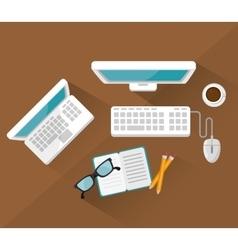 Work place design vector