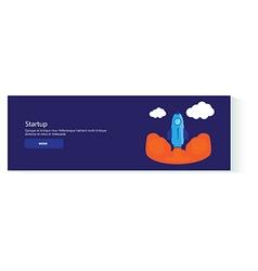 banner startup vector image