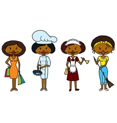 African-American Housewifes vector image