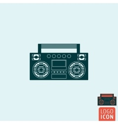 Boombox icon isolated vector