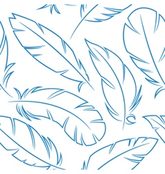 Bird feathers seamless pattern vector