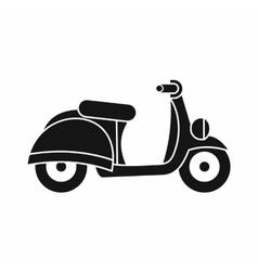 Motorbike icon simple style vector