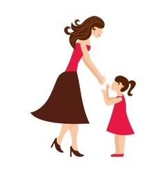 Mother daughter woman girl vector