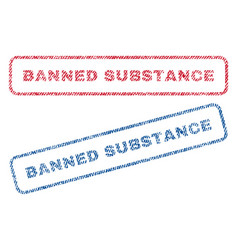 Banned substance textile stamps vector