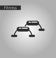 Black and white style icon steps for fitness vector