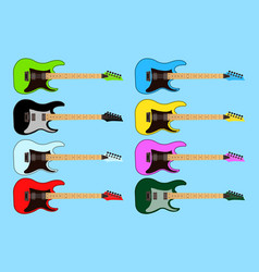 collection set of different color electric rock vector image vector image