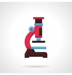 Colorful microscope flat color design icon vector image