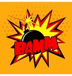Comic Bomb vector image vector image