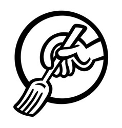 dining fork vector image vector image