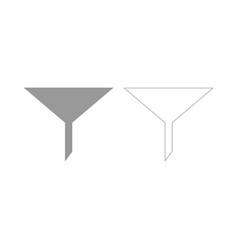 Filter the grey set icon vector