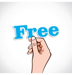 Free Word In Hand vector image vector image