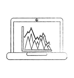 Graph chart icon image vector