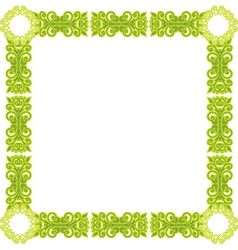 green pattern frame vector image vector image