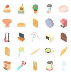 Homestead icons set cartoon style vector