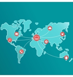 Internet Connection World vector image vector image