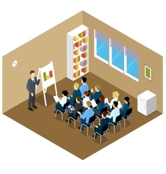 Isometric Indoor Classes Composition vector image vector image