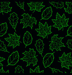 Leaves seamless green dark vector