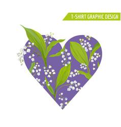 Love romantic floral heart design for prints vector