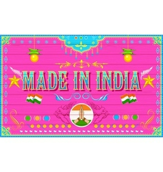 Made in india background vector