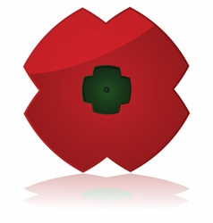 Poppy icon vector