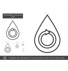 Renewable resources line icon vector