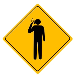 Road sign man working vector