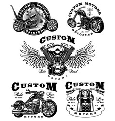 Set of biker on white background 3 vector
