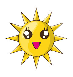 Sun funny cartoon vector