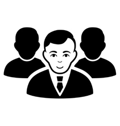 Team Flat Icon vector image vector image