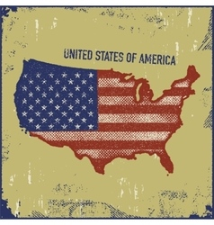 USA map grunge style vector image