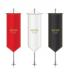 Vertical banner flags isolated vector image