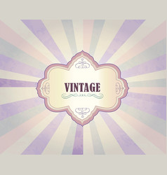 vintage frame over retro textured background vector image vector image