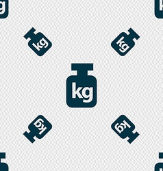 Weight sign Seamless pattern with geometric vector image vector image