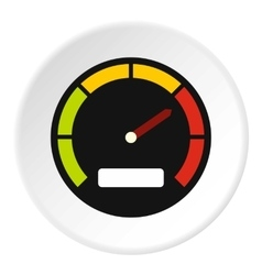 Speedometer dial icon flat style vector