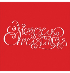 Merry christmas calligraphic lettering design card vector