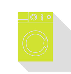 washing machine sign pear icon with flat style vector image