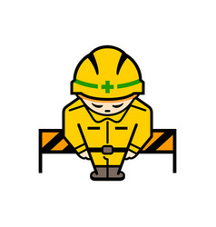 japanese under construction sign vector image