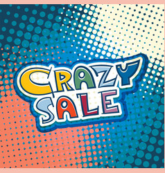 Crazy sale marketing banner vector